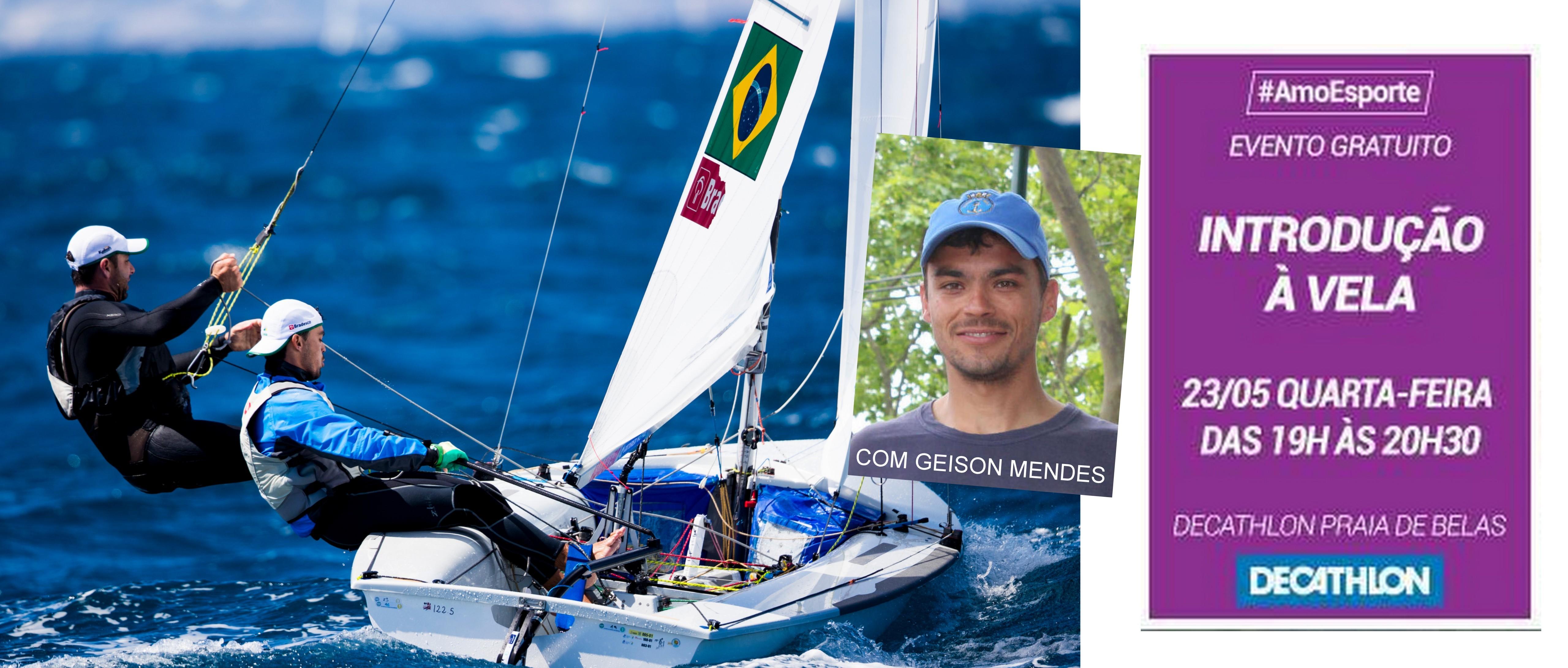 #AmoEsporte: Geison Mendes palestra Iniciação à Vela na Decathlon Praia de Belas