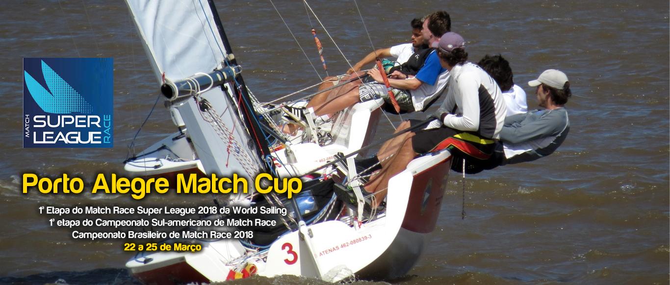 Porto Alegre Match Cup - evento internacional de Match Race em março no VDS. Inscrições abertas
