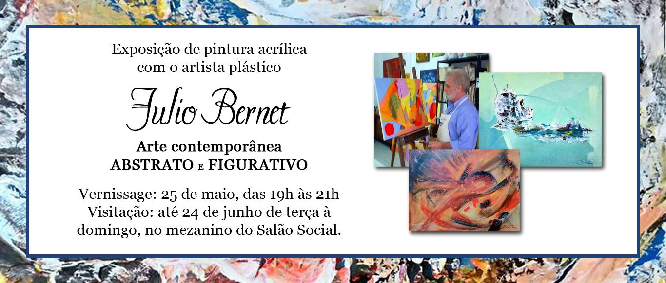 Artista plástico Julio Bernet realiza vernissage no VDS no dia 25